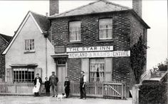 The Star Public House 9Wootton, England0 about 1900 with William Gilbert and family standing outside. According to a note in the register of alehouse licences the Star beerhouse was first licensed in 1847. The deeds to the property go back to 1802 when the house divided into three tenements.