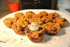 Pumpkin Cran Muffins for dogs