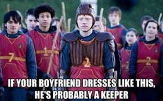 if your boyfriend dresses like this he's probably a keeper.  #harry #potter #harrypotter