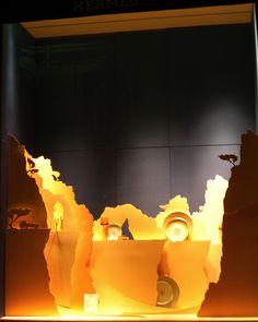Hermes by window display,
