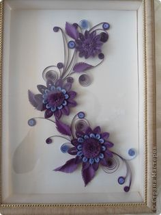 quilled frames, quill frame, monochromat flower, nice color
