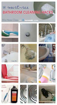 Discover 19 Must See Bathroom Cleaning Hacks at www.mrshinesclass.com