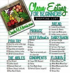 Clean eating menu
