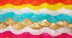 Striped Cupcake Liner Backdrop