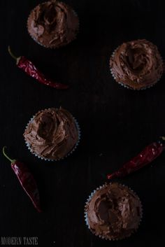 Chocolate Whiskey Chili Cupcakes