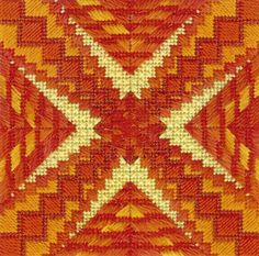 Needlepoint pattern - Color Delights - Fire - available at www.123stitch.com