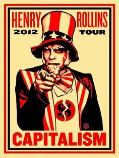 "shepard fairey | Shepard Fairey print – ""Rollins Capitalism"" – August 28th"