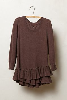 Tiered & Ruffled Sweater  #anthropologie