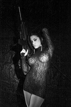 Hot Girl with gun