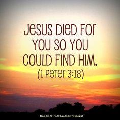 1 Peter 3:18.