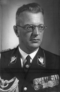 Arthur Seyss-Inquart was an Austrian Nazi lawyer who held high offices in Austria and occupied Poland and was eventually made Reichskommissar of the Netherlands. After the war he was tried at Nuremberg, alongside other Nazi leaders, was found guilty and hanged in October 1946.