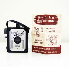 50s Herco Imperial 620 snapshot camera, (Imperial six twenty), 620 film box camera. $30.00, via Etsy.
