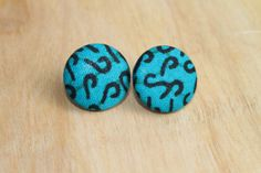 Ankara Fabric Covered Earrings on Etsy, $7.00