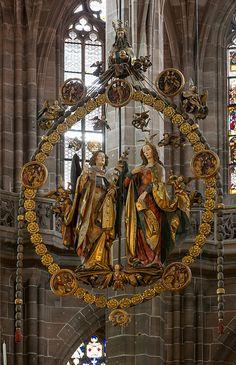 zwiastowanie; kościół św.Wawrzyńca - Norymberga