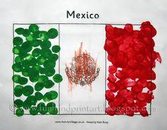 fingerprint Flag of Mexico craft