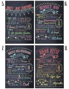 Customizable Printable First Birthday Chalkboard Poster.. I am gunna do these at 3 months, 6 months, 9 months and 12 months for Sage!