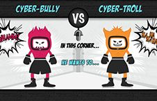 What's the difference between a cyber bully and cyber troll? Tips on how to stop cyberbullies and trolls! #community #socialmedia #manager #tips #cmgr #smm  #infographic