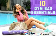 Lots of great stocking stuffer ideas here! Gym Bag Essentials for Every Woman | via @SparkPeople #gift #holiday #fitness