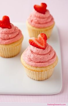 Yummy Strawberry Shortcake #Cupcake #Recipe
