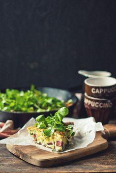 Ramp, Green Garlic & Asparagus Frittata with Mennonite Sausage