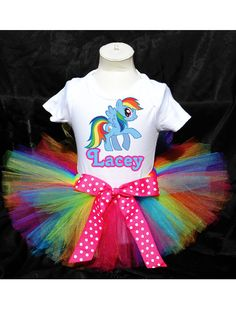 My Little Pony Rainbow Dash Tutu Birthday by PrettyAsAPrincess2, $27.99 This is going to be for my daughter's first birthday rainbow party! Love it!