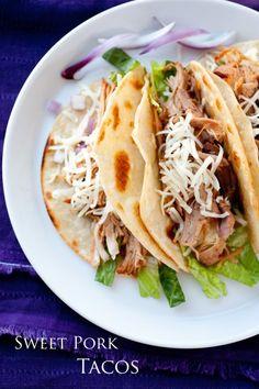 Slow Cooker Sweet Pork Tacos