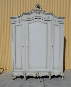 Antique Furniture French Antique Painted Louis XV Armoire Shabby Chic!