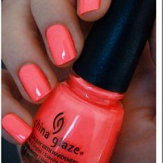 china glaze, summer nail polish colors, peach nail color, neon colors, flip flop, color nails, summer nails polish, summer colors, art nails