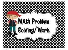 math center signs--can be customized