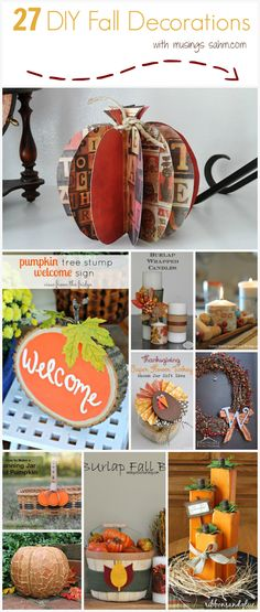 27 DIY Fall Decorati...
