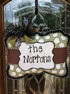 Personalized family burlap hanger-LOVE!