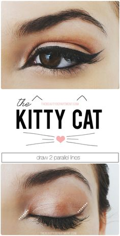 pin up makeup, makeup tutorials, kitty cats, eye makeup, cat eyes, kitty kat, kitti cat, eye liner, retro makeup