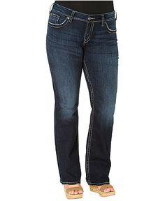 Silver Jeans Plus Size Jeans, Suki Surplus Bootcut, Dark Wash - Plus Size Jeans - Plus Sizes - Macy's
