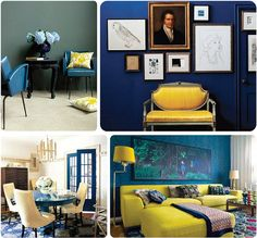 navy + yellow...