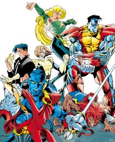 Excalibur: Pete Wisdom, Shadowcat, Nightcrawler, Meggan, Colossus, and Wolfsbane