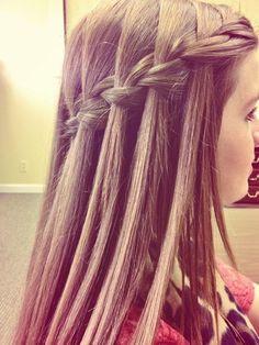 waterfal braid3, beauty tips, long hair, nice braid, girl hairstyles, braid hairstyles, hair style, braided hairstyles, waterfall braids