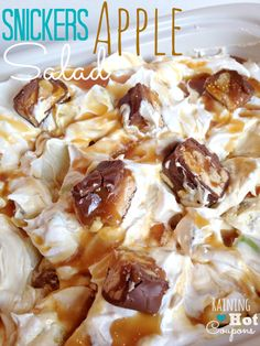 Snickers Caramel Apple Salad Recipe - No Bake
