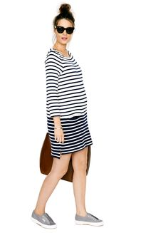 What to wear on your destination #babymoon - the Bateau Dress | HATCH Collection