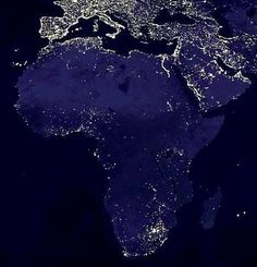 #Africa from #space by night.