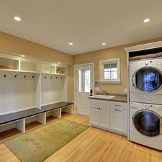 Awesome mud and laundry room. Only I would do tile flooring instead of wood.