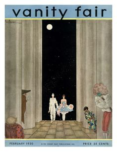 Vanity Fair Cover - February 1930 by Georges Lepape