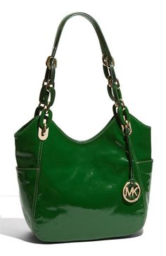 MICHAEL Michael Kors 'Lilly - Medium' Patent Leather Tote