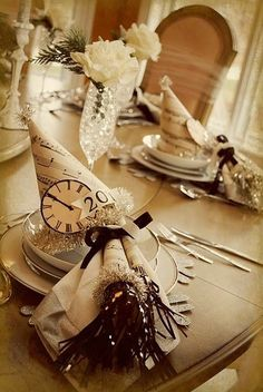 New Years eve #party #tablescape by DeeDeeBean