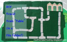 H is for Homeschooling: Travel Train Table (in a file folder!)