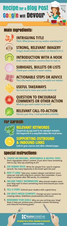 17 Steps to Create Blog Posts that Google Will Love #infographic