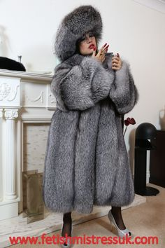 My Huge Luxury Silver Fox Fur's.