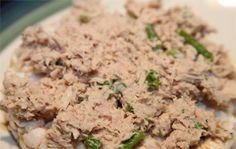 Receita de pasta de atum ou de frango