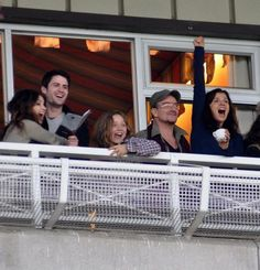 Eve Hewson and James Lafferty having a fun day with Eve's dad, Bono!