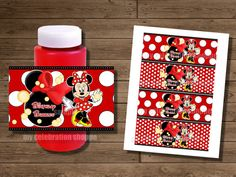 INSTANT DOWNLOAD Red Minnie Mouse Bubble by MyCelebrationShoppe, $3.50