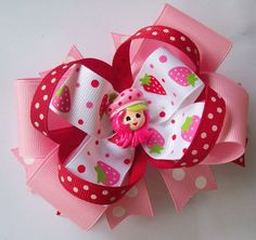 Inspired by Strawberry Shortcake  Justine's Boutique Bows